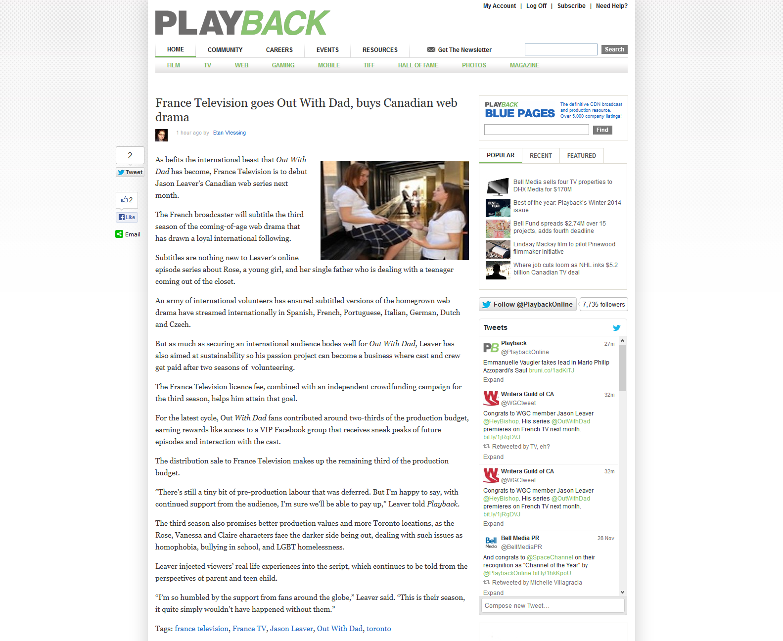 Getting some press with Playback Online