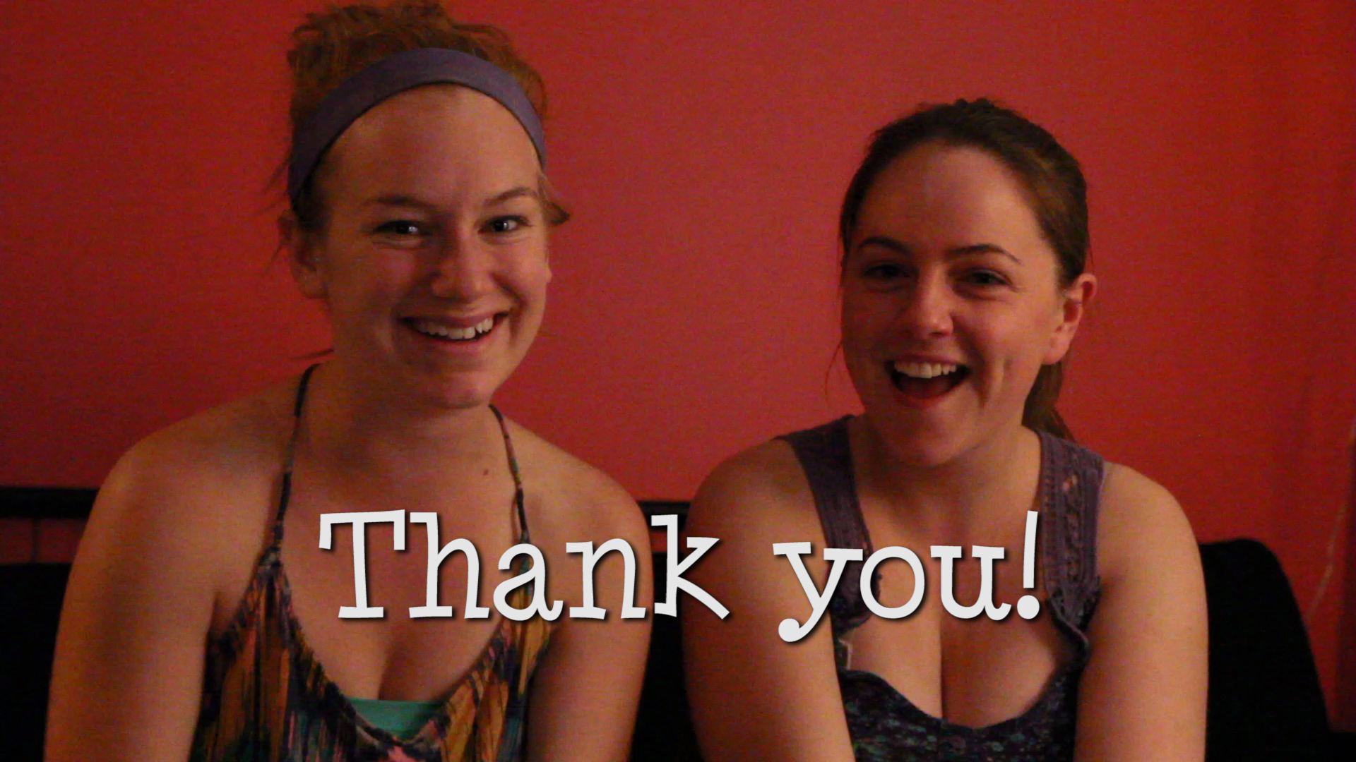 Thank you from Lindsey & Kate!